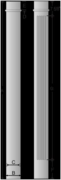 Square columns square frp columns pacific columns inc for Pacific columns endura stone