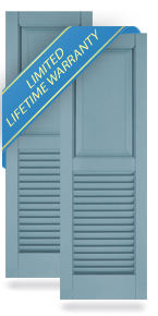 Raised Panel Top / Louver Bottom Atlantic Architectural Shutters