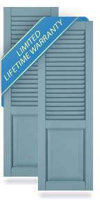 60-40 Louver & Raised Panel Atlantic Architectural Shutters