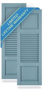 Raised Panel Top / Louver Middle / Raised Panel Bottom Atlantic Architectural Shutters