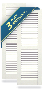 PRO SERIES Equal Louver Atlantic Classic Shutters
