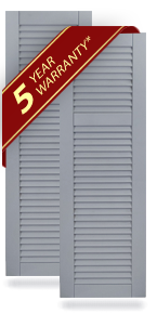 Offset Louver Composite Shutters