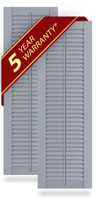 All Louver Composite Shutters w/Faux Tilt Rod