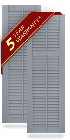 Offset Louver Composite Shutters w/Faux Tilt Rod