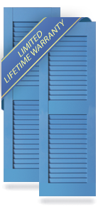 Equal Louver Architectural PVC Shutters