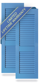 Cottage Style Louver Architectural PVC Shutters
