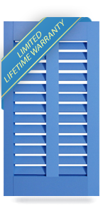 Architectural PVC Clearview Bahama Shutters