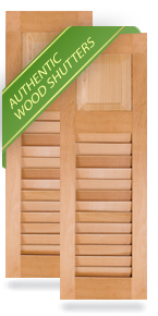 60-40 Raised Panel & Louver Wood Shutters