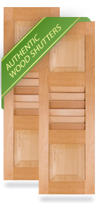 Raised Panel Top / Louver Middle / Raised Panel Bottom Wood Shutters