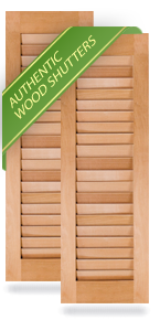 All Louver Wood Shutters