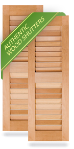 Equal Louver Wood Shutters