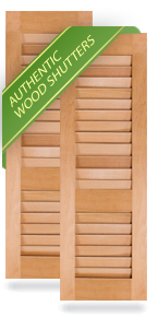 Cottage Style Louver Wood Shutters