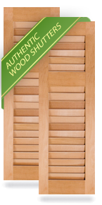 Offset Louver Wood Shutters