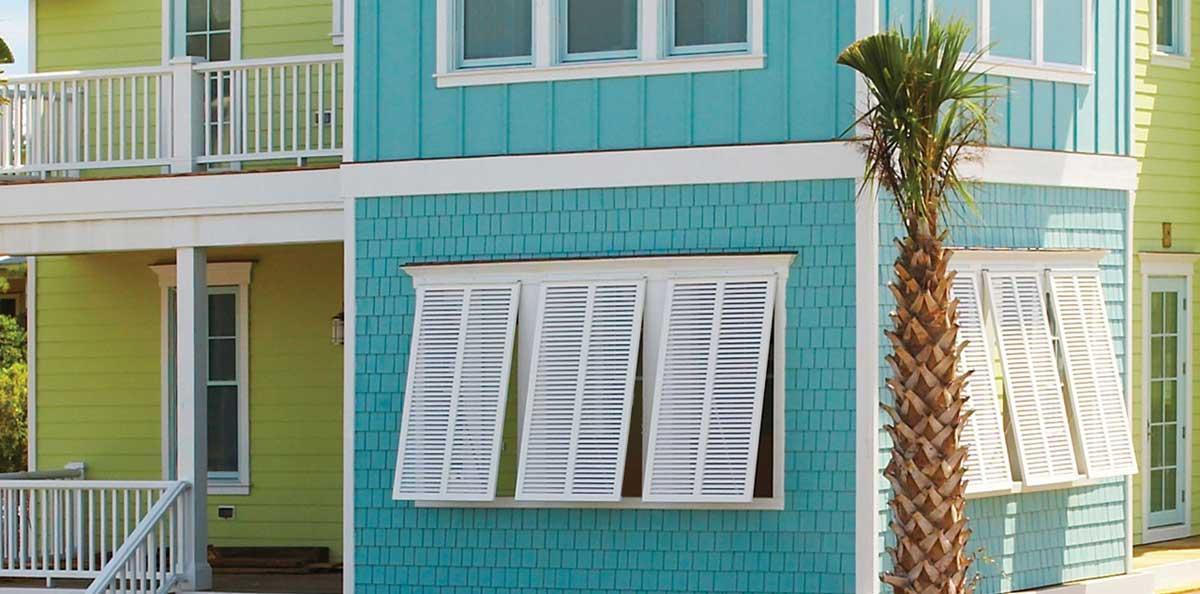Bahama Exterior Shutters | Aluminum Bahama Shutters Pacific ...