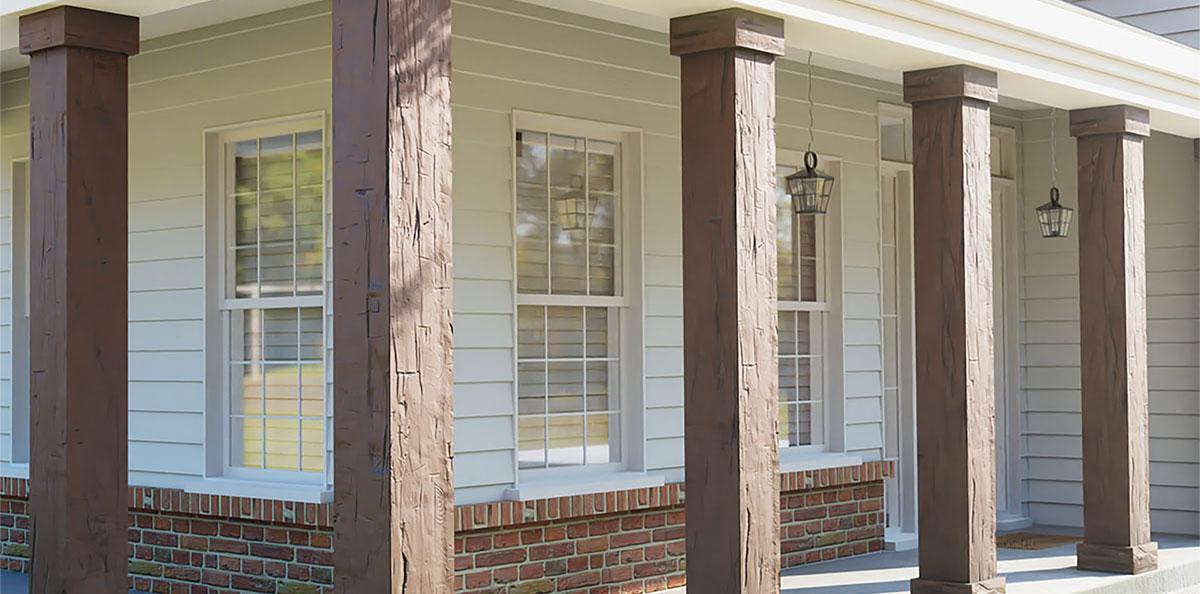 Rustic Faux Wood Columns Pacific Columns Inc