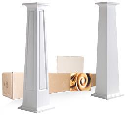Tapered Square Columns | Square Column Wraps Pacific Columns, Inc.