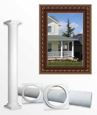 Round non tapered columns simple columns pacific columns for Pacific columns endura stone