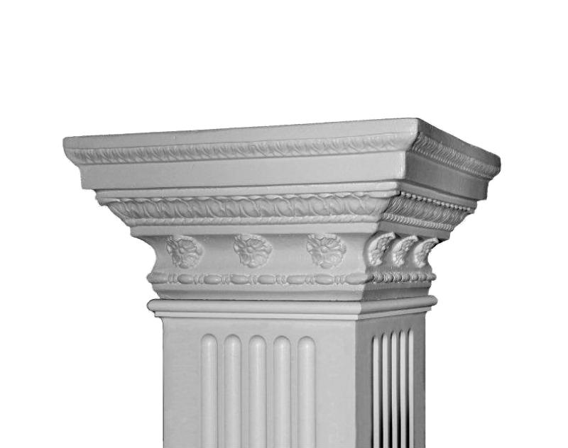Non tapered square columns square columns pacific for Tapered columns