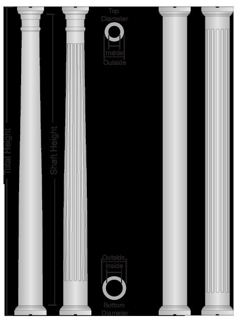 Colonial Wood Columns, Round Wood Columns